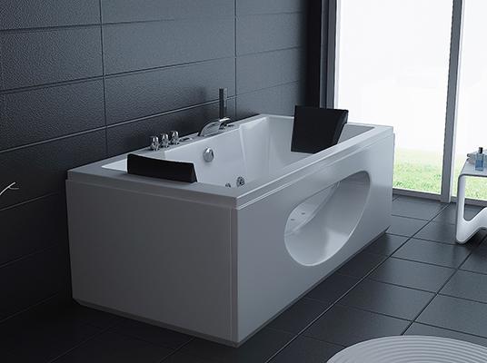 baignoire jacuzzi 180x90 26 jets d hydromassage double. Black Bedroom Furniture Sets. Home Design Ideas