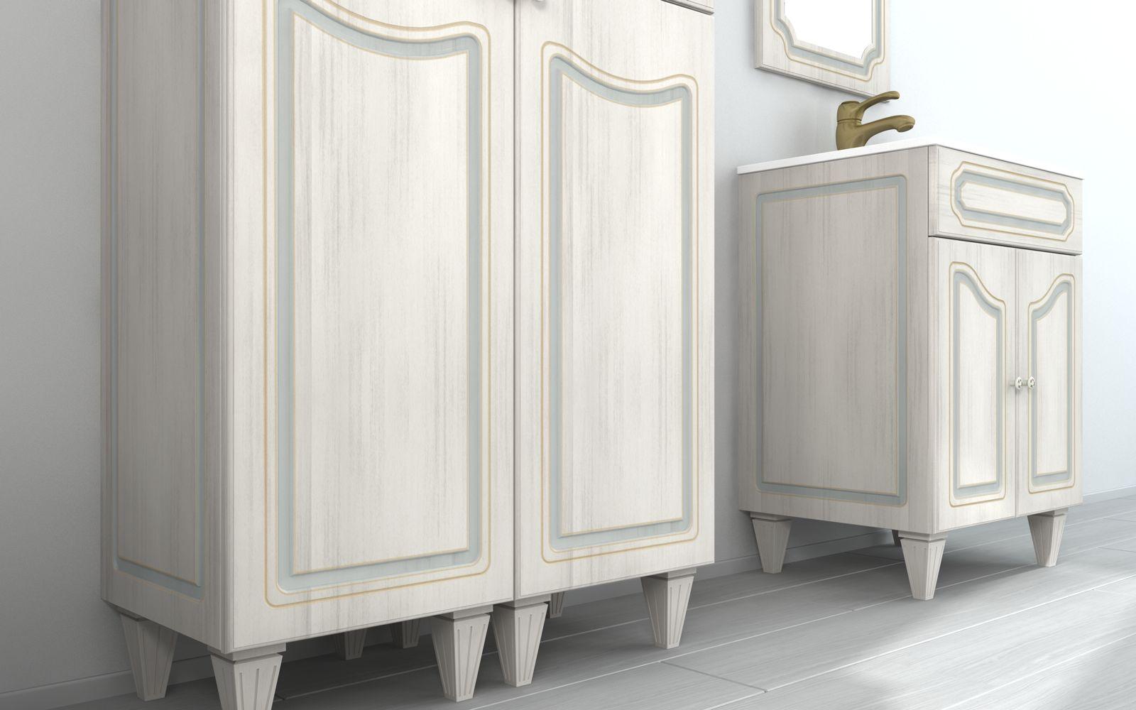 Caravaggio Bathroom Cabinet, arte povera, vintage style