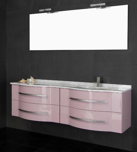 Meuble de salle de bain Argus 180 cm avec lavabo double disponible en 20  couleurs