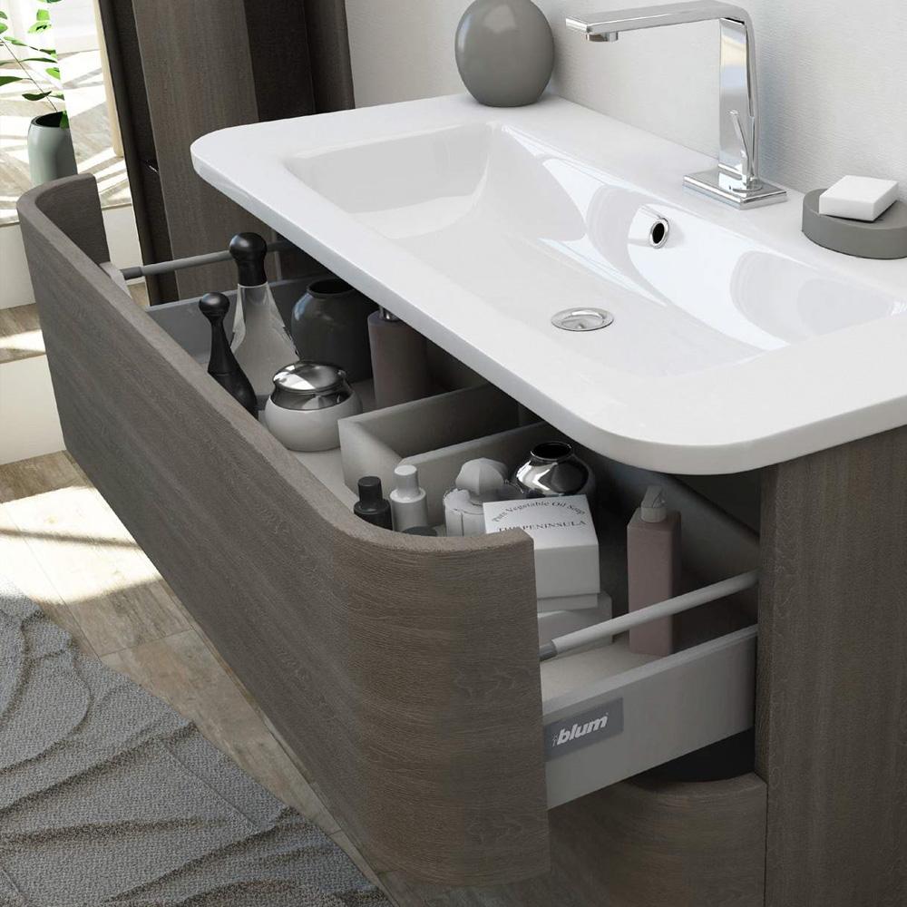 Angel 80 Modern Bathroom Cabinet 100cm With Washbasin