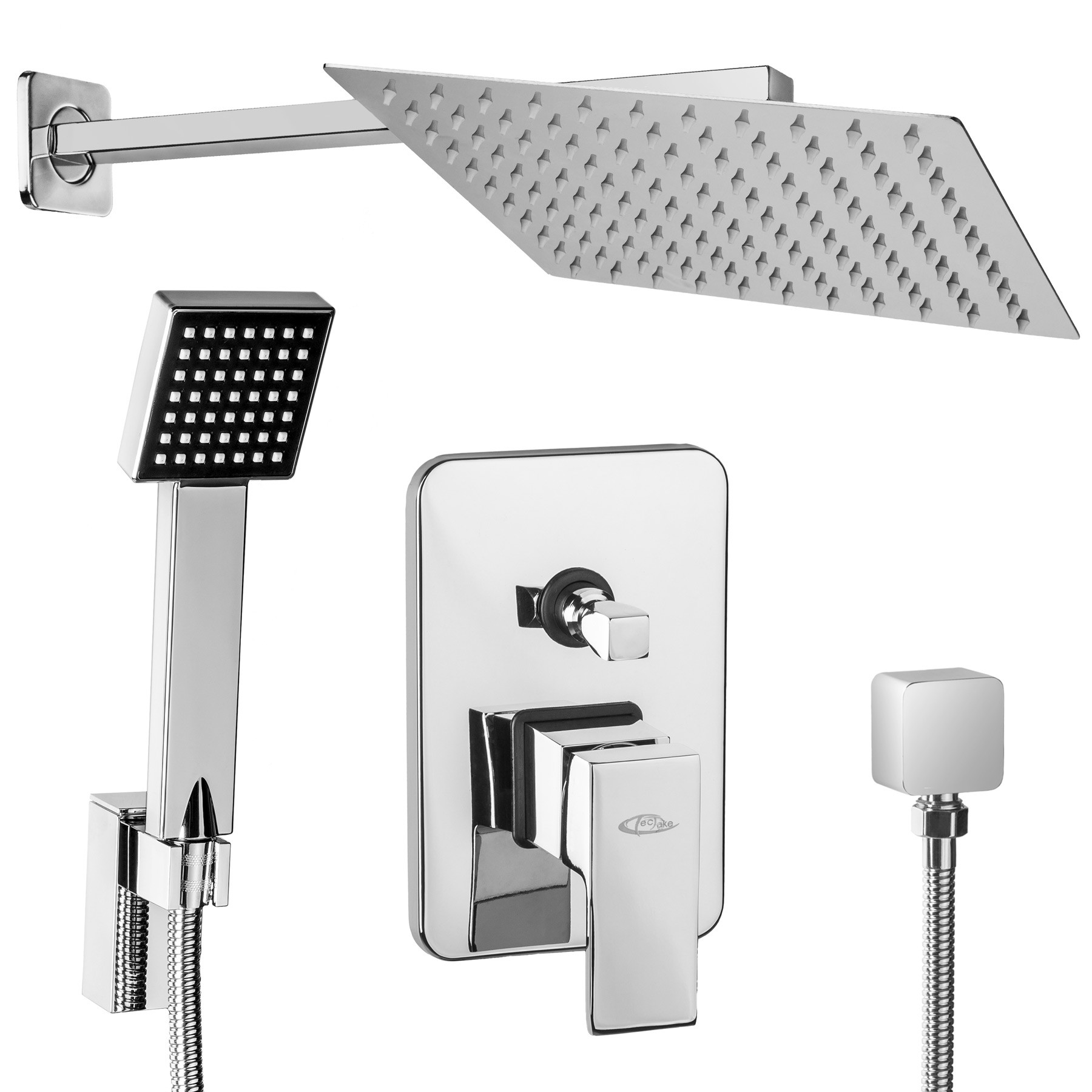 Brass Single Lever Mixer Tub For Tub With Rain Effect And Handheld Shower Rb010