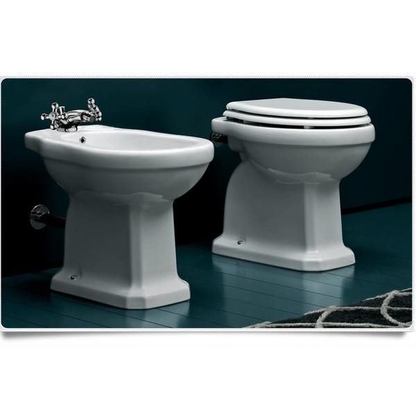 Sanitary Ware Classic Wc And Bidet Floor Or Wall Mounted Flush
