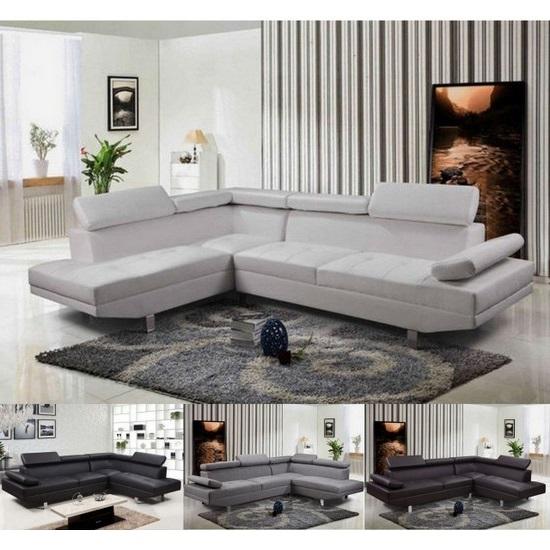 Leather Or Microfibre Corner Sofa