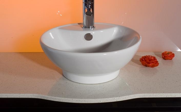 Lavabo à poser rond pour meuble de salle de bain moderne modèle Sofia