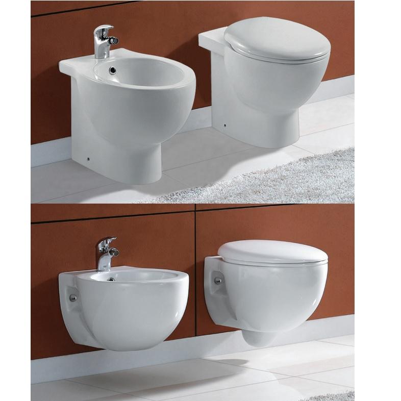 Sanitaire modèle Ford suspendu ou à poser. WC et bidet avec ...