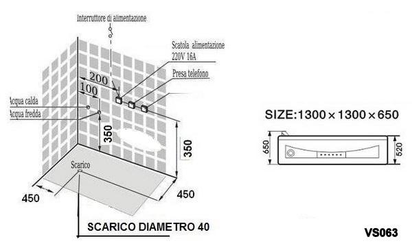 Baignoire Balneo 140x140 Ou 130x130 Avec Jets D Hydromassage A Air Et A Eau Chromotherapie Et Radio Fm Vs062 Vs063