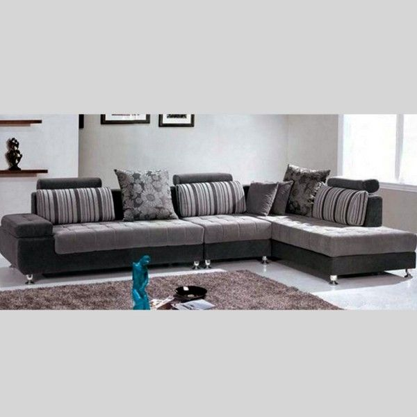Chaise Longue corner sofa, Mimosa model, 332 cm, for modern living room