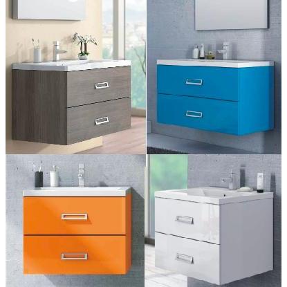 Arredo Bagno Colore Azzurro.Line Bathroom Vanity Modern Design Several Colours