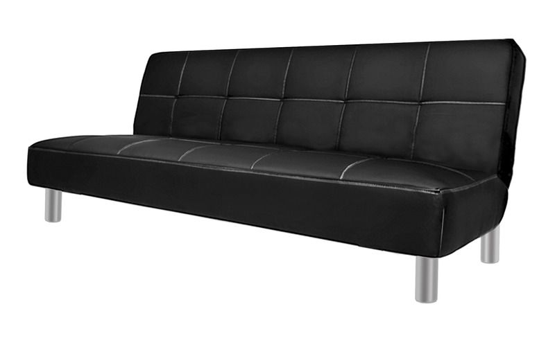 Excellent Sofa Bed With Anti Tipping System Claudia Model 180Cm White Or Black Faux Leather Caraccident5 Cool Chair Designs And Ideas Caraccident5Info