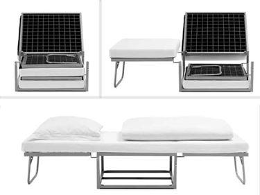Pouf Letto Singolo Mondo Convenienza.Single Pouf Bed With Mattress Venezia Model 72x45x73 White Red