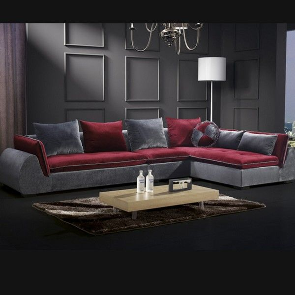 Sofa for living room, Beatrice model, 360 cm, modern furnishing, cushions  included