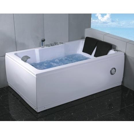 baignoire remous rectangulaire 185x120 2 places avec. Black Bedroom Furniture Sets. Home Design Ideas