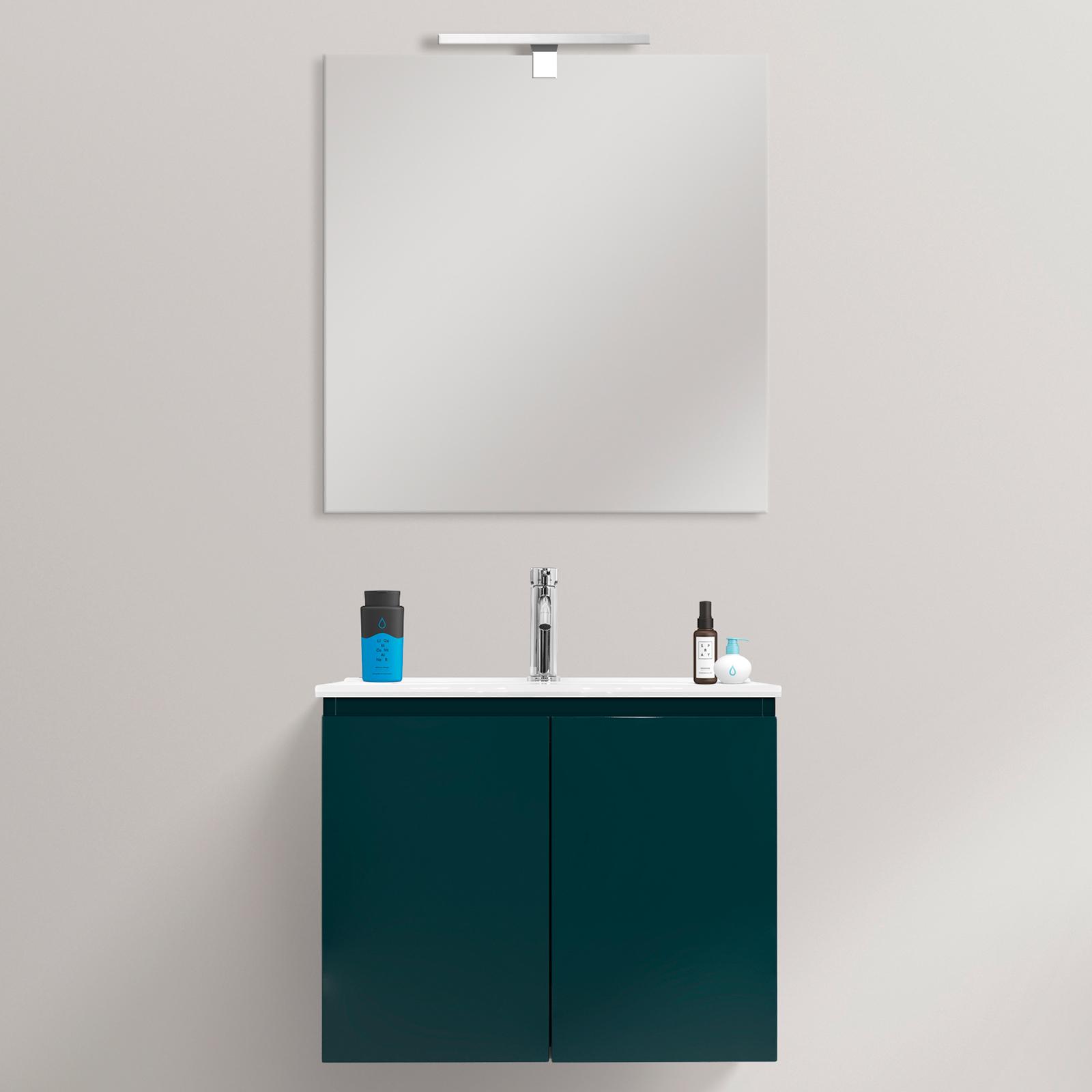 Wall Hung Ultra Slim Bathroom Vanity Made Of Mdf 60x36cm