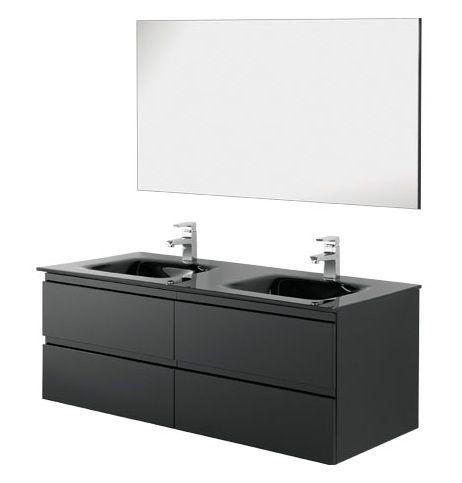 Black Bathroom Furniture Modern Furniture Double Washbasin Br