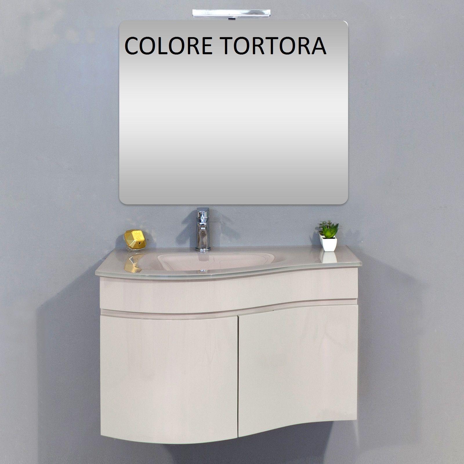 Lavabo Rojo Cristal.Mueble De Bano Asia Completo Con Lavabo De Cristal De