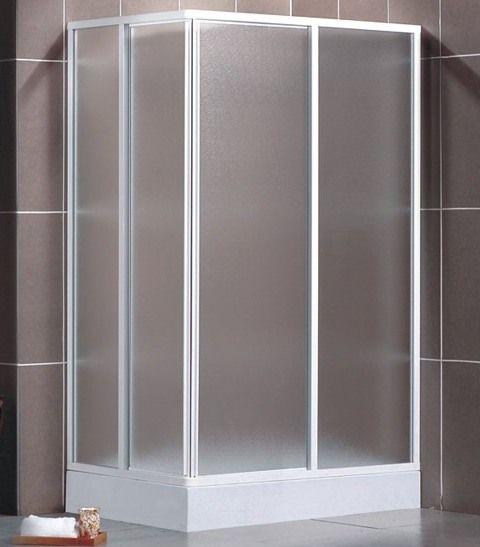 Glass Box Doccia.Crystal Corner Shower Enclosure Opaque Silk Screen Printed Glass