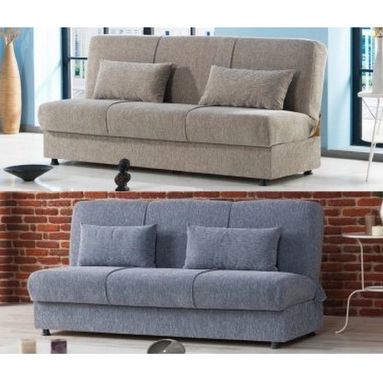 Divano Letto Cassettone.Sofa Bed Cody 190x108 Cm Fabric Available In Two Colours With