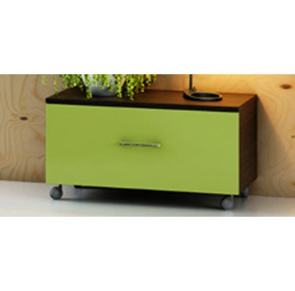 Mobile Coprilavatrice In Legno.Drawer Unit With Wheels Cm 77x39x39h Bicoloured Or Single Colour Available In 30 Colours
