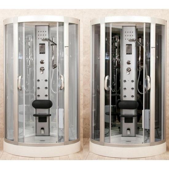 Box Doccia Eklis.Hydromassage Shower Cabin 80x80 90x90 95x95 Multifunctional Also With Sauna Cb057
