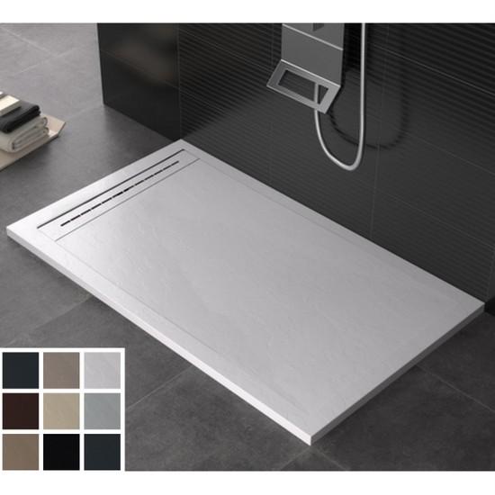 receveur de douche en r sine de marbre disponible sur. Black Bedroom Furniture Sets. Home Design Ideas