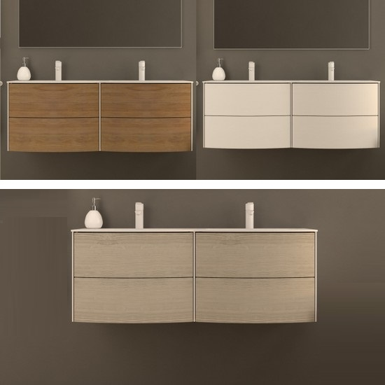 Wall Hung Bathroom Furniture Safari2 With Double Sink Cm 120 With