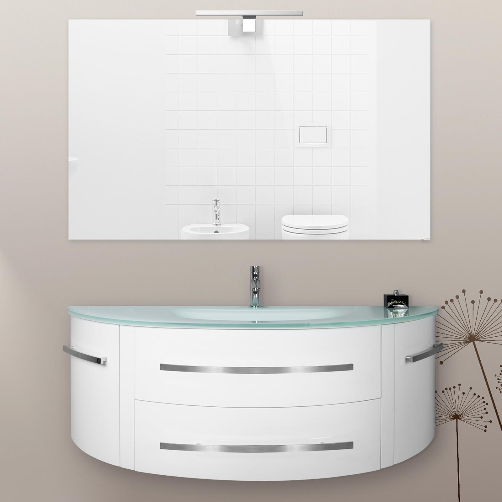Beta Badezimmerschrank mit farbigem Kristallwaschtisch bz