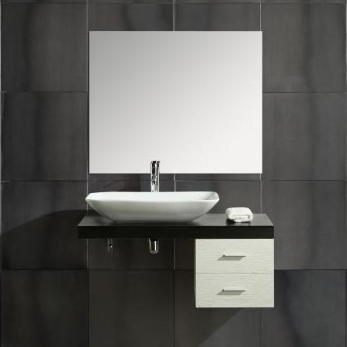 Mobile Sospeso Bagno.Moon Bathroom Furniture Cm 100 2 Drawers Shelf Ceramic Washbasin Mirror Included