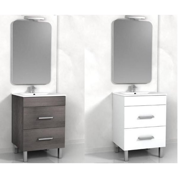 Mobile Da Bagno Wenge.Bathroom Cabinet Sirio 60 Cm Double Drawer And 2 Color Feet Of