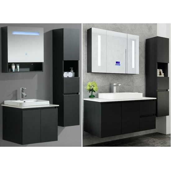 buy popular 13f0b 49af2 Karina bathroom furniture available in 6 sizes with mirror and column  cabinet for free