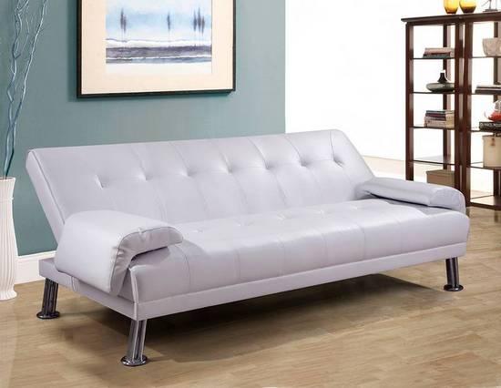 Reclining Sofa Bed Cm 194x110x40 White