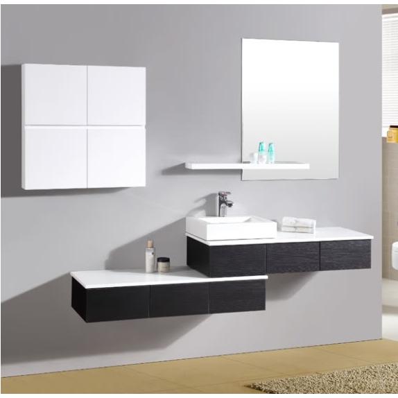 Mobile Da Bagno Wenge.Modern Bathroom Cabinet With Left Handed Washbasin Sb