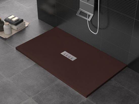 receveur de douche en r sine de marbre disponible en 8. Black Bedroom Furniture Sets. Home Design Ideas