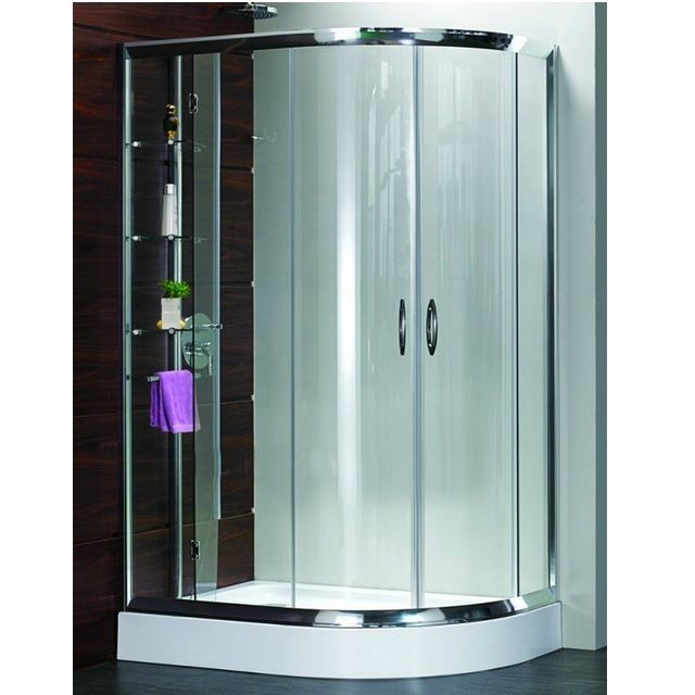 Box Doccia 70 X 90.Semicircular Shower Cabin 70x90 Right Or Left Hand Version Transparent Or Speckled Glass