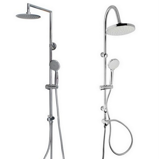 Shower Column With Shower Head And Handheld Shower Available In