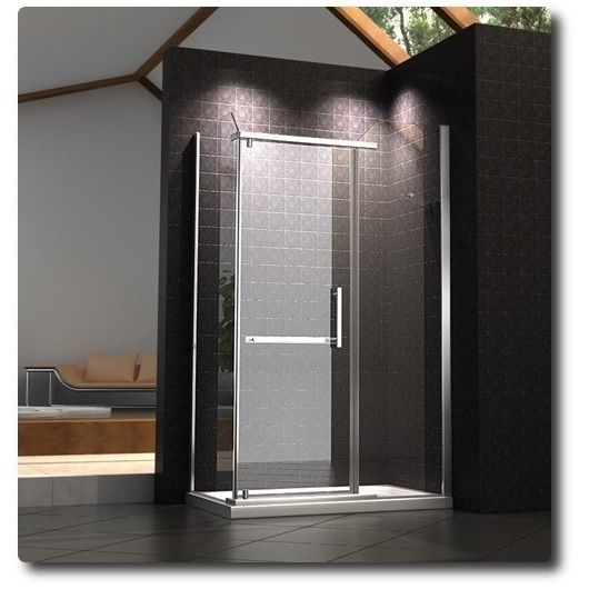 Glass Box Doccia.Corner Shower Cabin Transparent Glass Bagno Italia