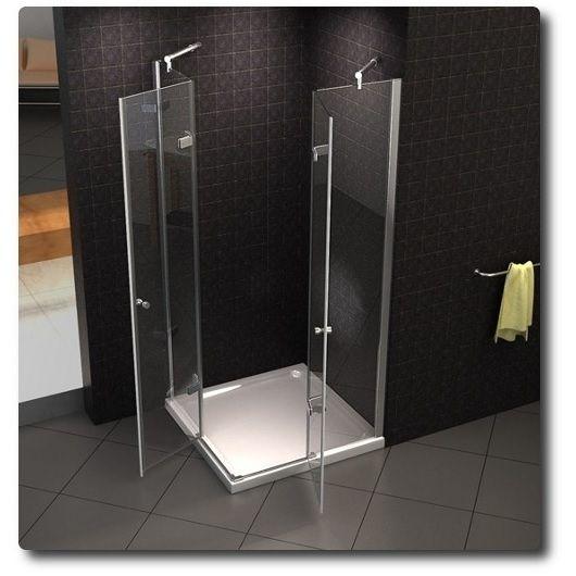 Glass Box Doccia.Corner Shower Cabin Transparent Opaque Glass Bagno Italia