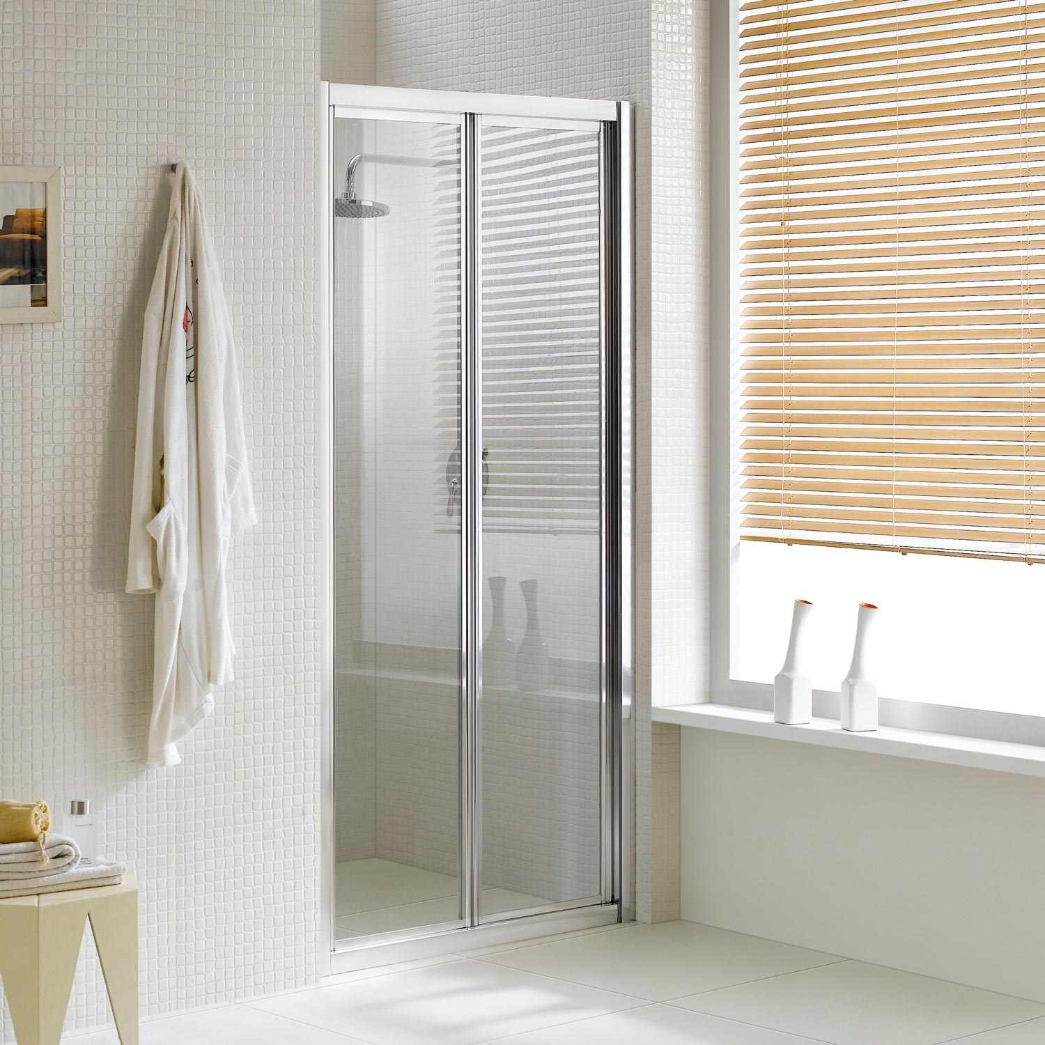 Transparent Or Opaque Bifold Shower Door