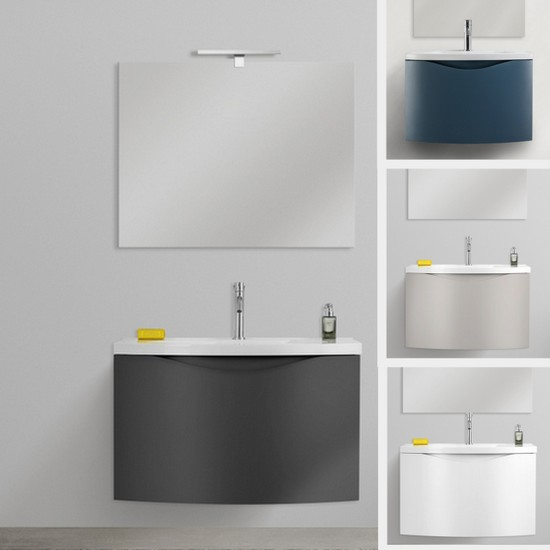 Mobile Bagno 50 Cm.Wall Hung Bathroom Vanity Debby 60x40 In 3 Colors And Mirror Included