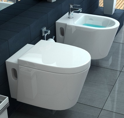 Wall Hung Or Wall Hung Wc And Bidet Wc With Soft Closing Close Icra Go